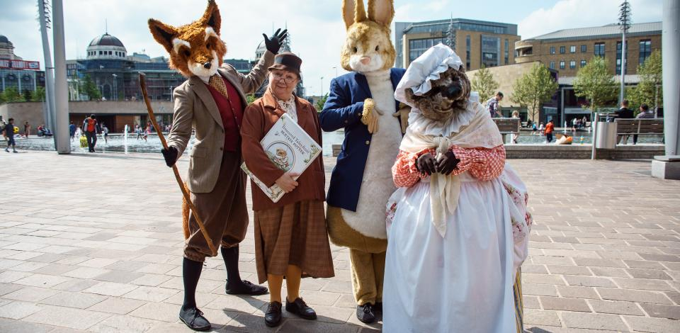 Our show inspired by the tales of Beatrix Potter, devised for and performed at Bradford Literature Festival, is a popular choice!