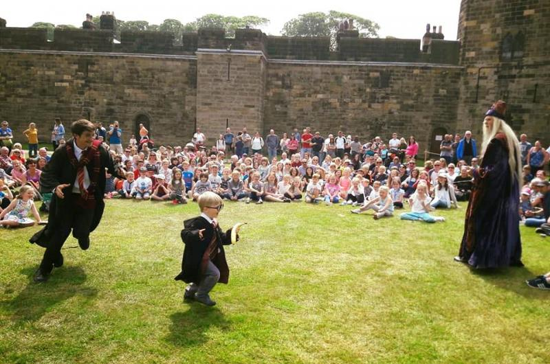 We provided a series of Harry Potter-inspired shows at Alnwick Castle from Spring to late Summer!
