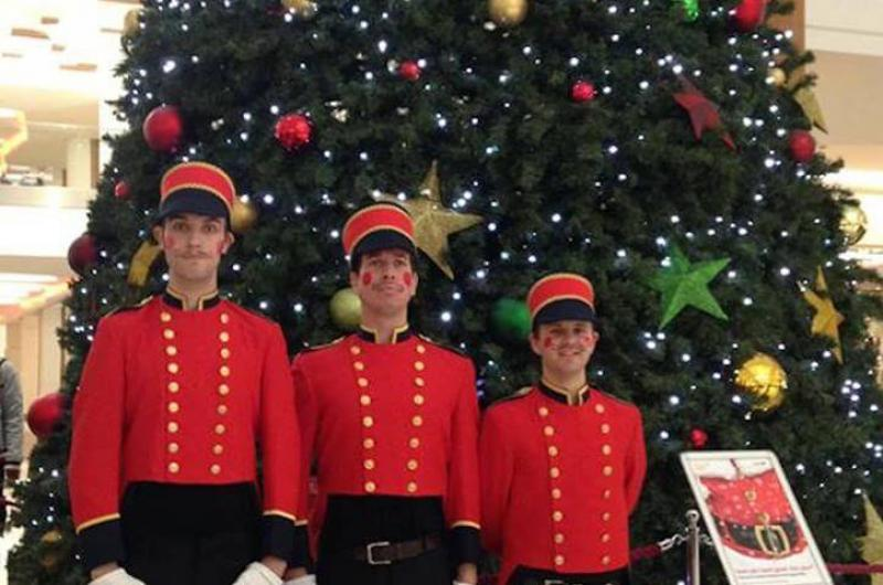 Promotional Staff: Toy Soldiers to assist shopping centre customers with their Christmas shopping