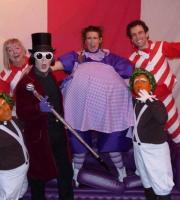 At Easter, there's one thing everybody loves ... chocolate! We provided a fun Charlie and the Chocolate Factory-inspired show for Lowry Outlet. The show included a Violet Beauregarde who really swelled up into a giant blueberry!